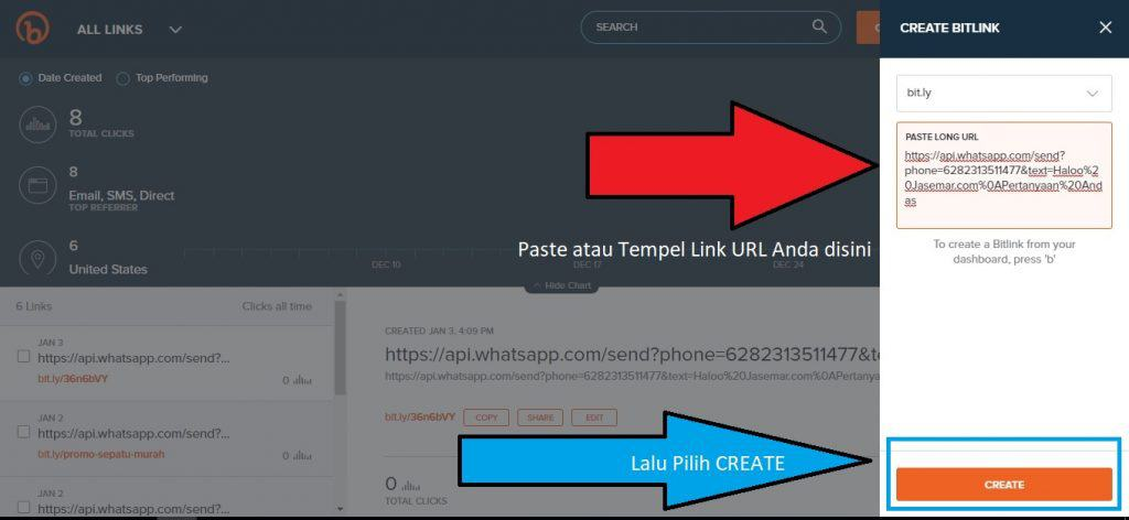 paste link whatsapp disini